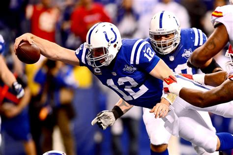 andrew luck scores  luckiest touchdown  propel colts