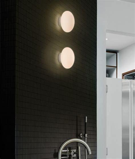 small glass bathroom wall light d 150mm