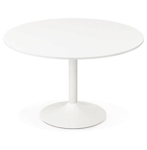 table ronde bureau table de bureau ronde blanche orlando 120 cm table à