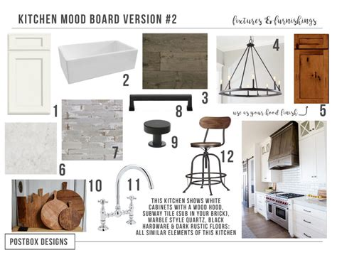 kitchen design boards farmhouse kitchen 4 mood boards to create your 1109