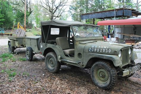 military jeep trailer 1953 jeep willys military jeep wii 2 trailers for sale