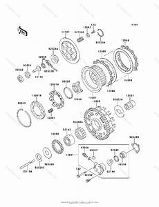 Kawasaki Motorcycle 1995 Oem Parts Diagram For Clutch