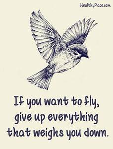 Positive Quote: If you want to fly, give up everything ...