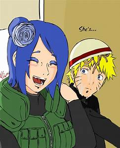Naruto and Konan. She's laughing? by MegaDarkly on DeviantArt