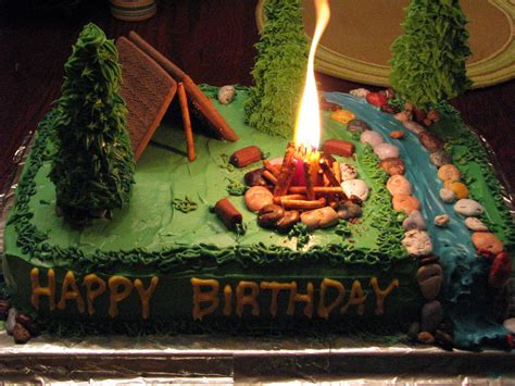 camping birthday cake ideas  pinterest camp