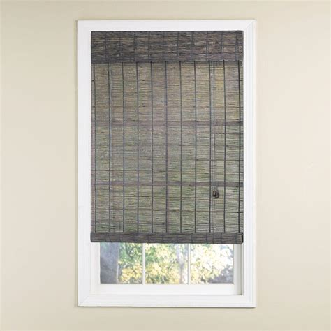 Radiance Gray Wash Norwood Bamboo Rollup Blind  72 In W