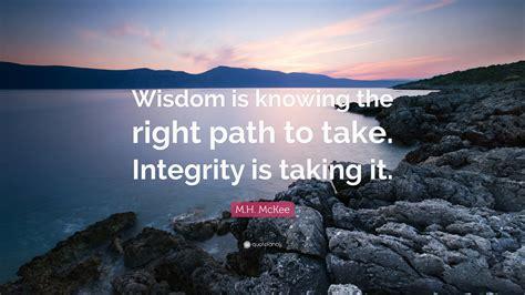 M.H. McKee Quote:
