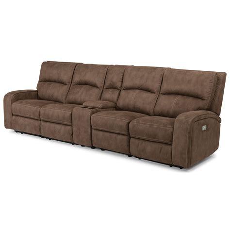power reclining sofa with usb ports flexsteel latitudes rhapsody contemporary power reclining