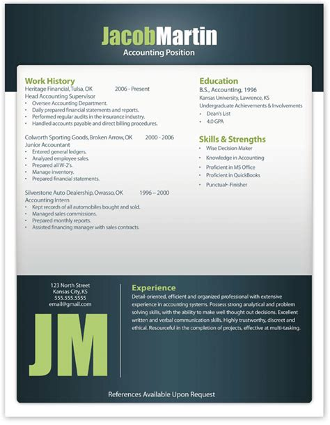 Modern Resumes Free by Free Modern Resume Template 12 Free Resume Templates