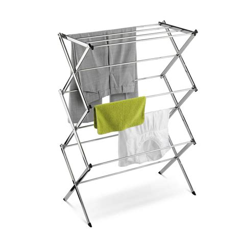 accordion drying rack chrome accordion drying rack clotheslines