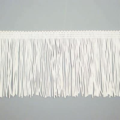 chainette fringe trim white discount designer fabric