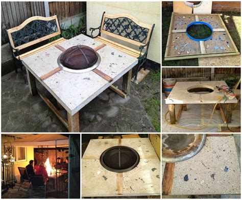 how to make a concrete table how to make a concrete fire pit table pictures photos