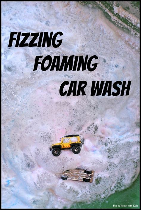 fizzy foaming car wash toddler activities activities