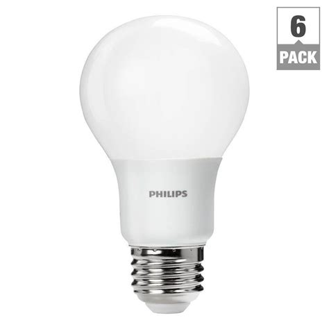 philips 60w equivalent soft white a19 led light bulb 6