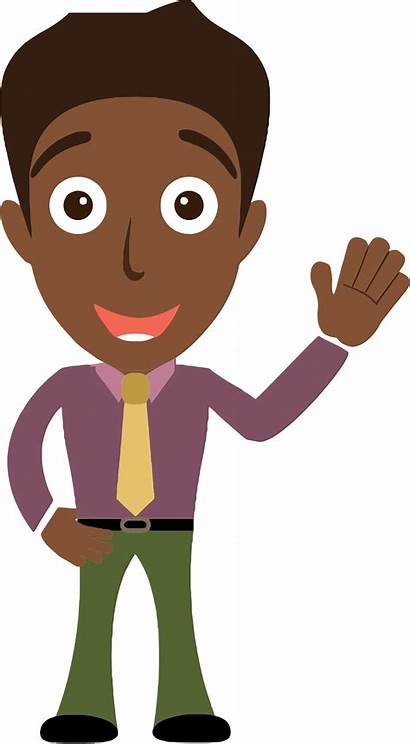 Clipart Clip Hello African Person Saying Hi