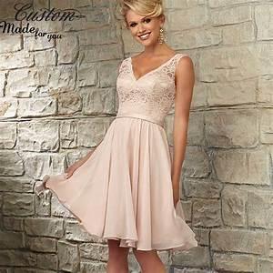 Elegant a line v neck chiffon short wedding party dress for Short pink wedding dresses