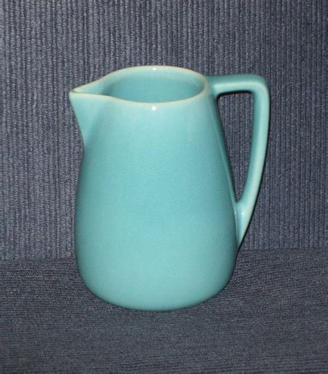 39 s parade pitcher 1940s franciscan deco style syrup pitcher turquoise blue