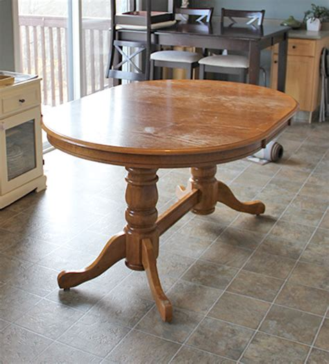 refinish  dining table diy style