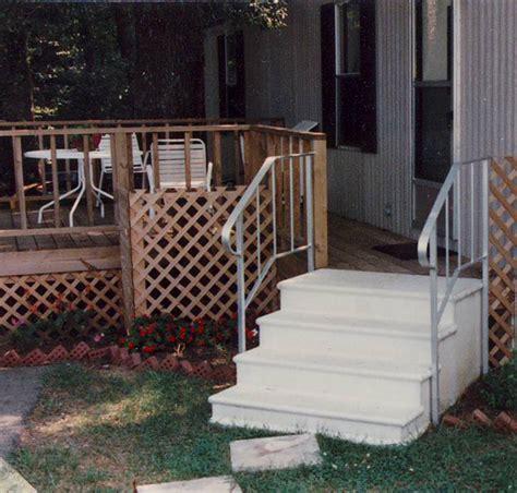 premade porch steps small home exterior design prefabricated porch steps