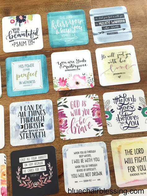 scripture cards encouraging bible verses