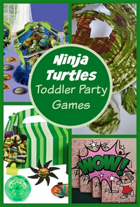 ninja turtle party games  toddlers  kids guide