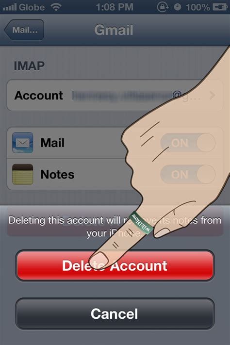 how to delete emails on iphone 5 how to remove an email account from an iphone 5 steps