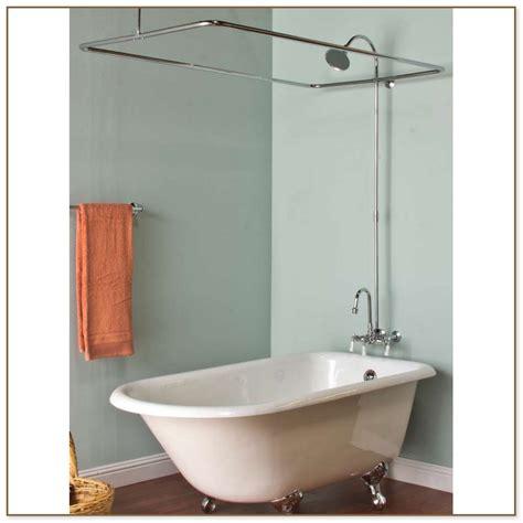 shower curtain rod for clawfoot tub clawfoot tub curtain