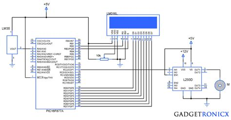 Temperature Controlled Fan Using Pic Gadgetronicx