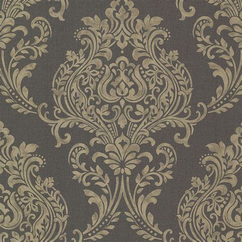brewster diane charcoal texture wallpaper sample