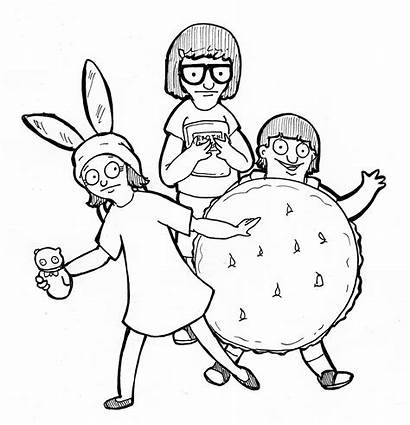 Burgers Coloring Bobs Pages Cheeseburger Bob Miyazaki
