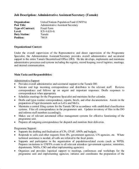 Administrative Specialist Resume Objective by 100 Administrative Assistant Objective Sles In