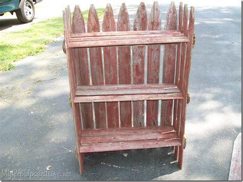 Stockade Fence Into Plant Shelf