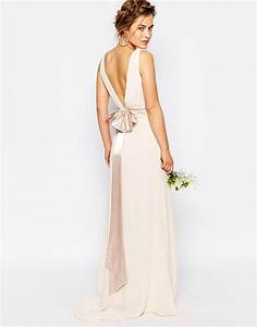 tfnc london wedding sateen bow back maxi dress in white lyst With maxi dress at wedding