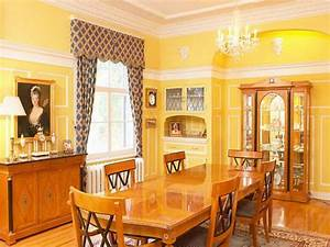 Bloombety Classic Yellow Interior House Painting Color