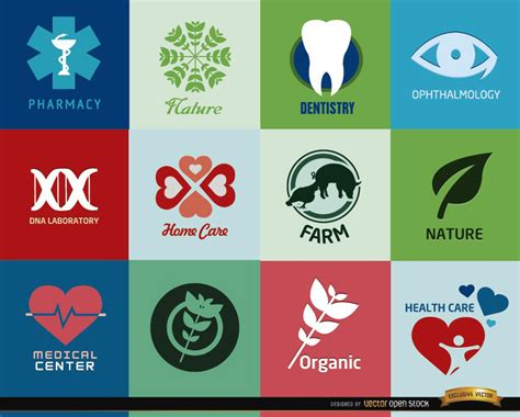 Logos For Health Centers And Products - Vector Download