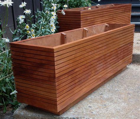 rectangular planter box rectangular wooden planter boxes garden design ideas