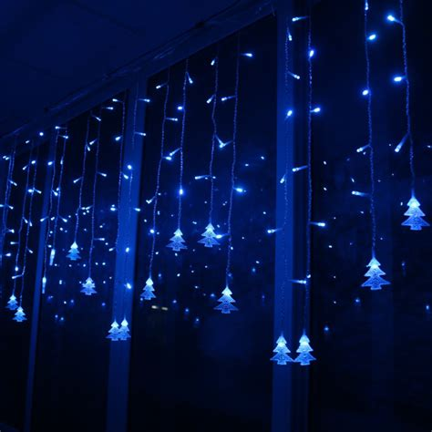 connect 5m 3 5m led curtain christmas tree icicle string