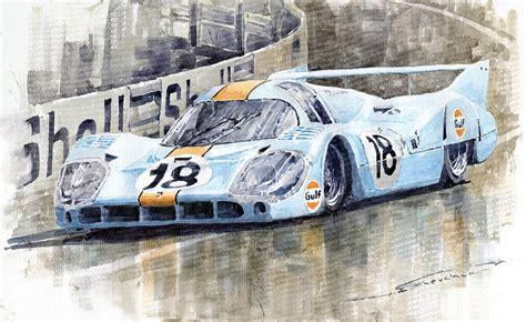 porsche 917 art porsche 917 lh 24 le mans 1971 rodriguez oliver painting