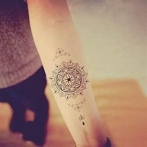 Mandala Tattoo Unterarm : tatto ideas 2017 mandala temporary tattoo ethnic art mandala art large temporary tattoo tattoo ~ Frokenaadalensverden.com Haus und Dekorationen
