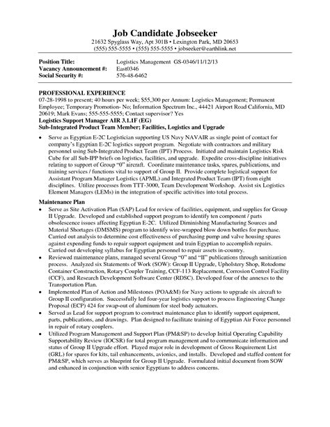 landscaping supervisor resume sle contract logistics resume sales logistics lewesmr