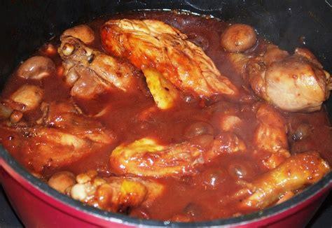 recette poulet vin rouge  site culinaire populaire