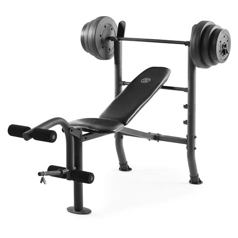 Bench Press And Weights For Sale by Bench Press With Weights Vinyl Lifting Equipment Set 100