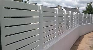 Lames Pvc Pour Cloture : palissade portail ~ Melissatoandfro.com Idées de Décoration