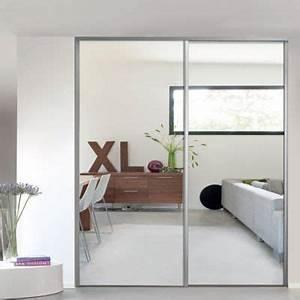 1 porte de placard coulissante miroir 922 x 2456 cm With porte coulissante miroir recoupable