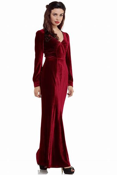Velvet Vixen Olive 30s Wine Dresses Glamour