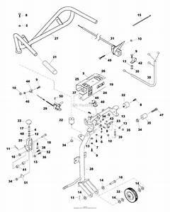 Bunton  Bobcat  Ryan 544844d Jr Sodcutter  Briggs 12 U0026quot  Parts Diagram For Handlebar Assembly