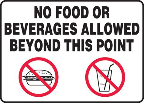 No Food Allowed Signs