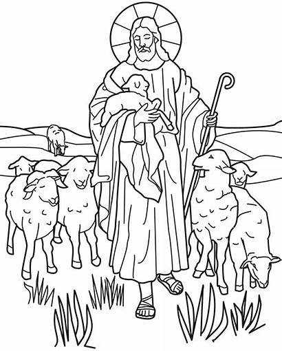 Coloring Pages Religious Christian Printable Colouring Easter