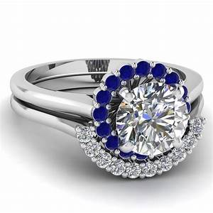 narrow floral set fascinating diamonds With sapphire wedding ring sets