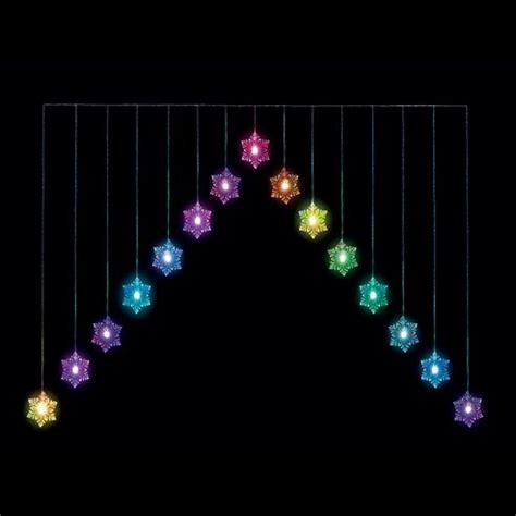 buy snowflake v outdoor colour changing curtain light